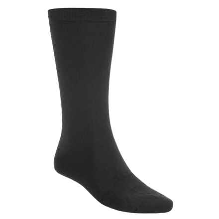 Terramar Lightweight Sportsilks Socks - Mid-Calf (For Men and Women) in Black - Closeouts