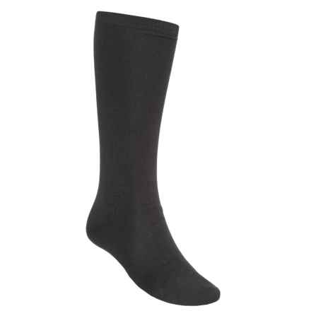Terramar Lightweight Sportsilks Socks - Over the Calf (For Men and Women) in Black - Closeouts