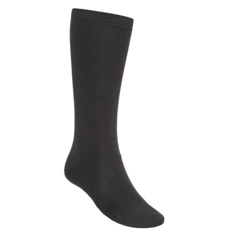 Terramar Lightweight Sportsilks Socks - Over the Calf (For Men and Women) in Black
