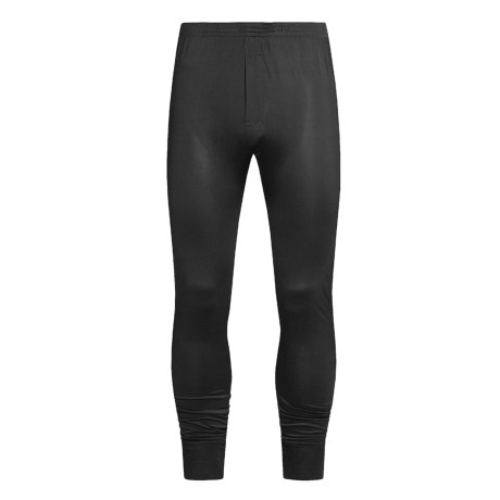 Terramar Long Underwear Bottoms - Silk, Lightweight (For Men) in Black