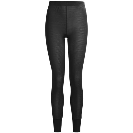 Terramar Long Underwear Bottoms - Silk, Lightweight (For Women) in Black Pointelle