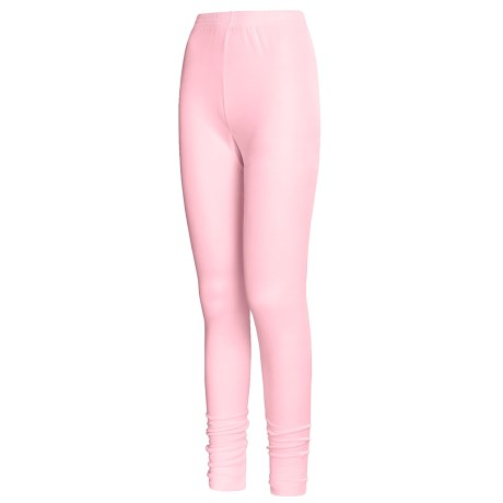 Terramar Long Underwear Bottoms - Silk, Lightweight (For Women) in Blush Pointelle