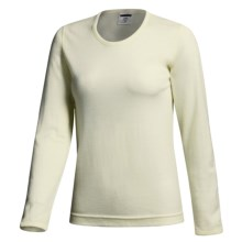 Terramar Long Underwear Shirt -Woolskins Long Sleeve (For Women) in Natural - Closeouts