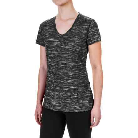 Terramar Melange T-Shirt - UPF 25+, V-Neck, Short Sleeve (For Women) in Dark Charcoal Melange - Closeouts