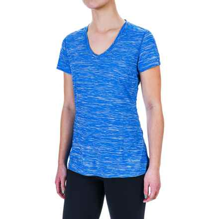 Terramar Melange T-Shirt - UPF 25+, V-Neck, Short Sleeve (For Women) in Ocean Melange - Closeouts