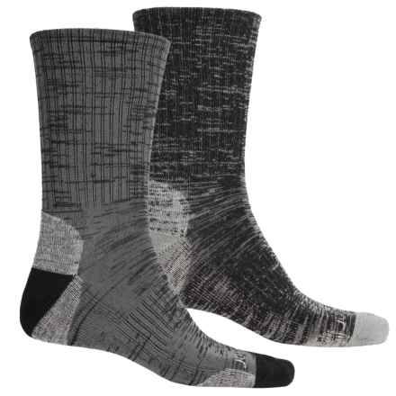Terramar Merino Lite Hiker Socks - 2-Pack, Crew (For Men and Women) in Black/Charcoal - Closeouts