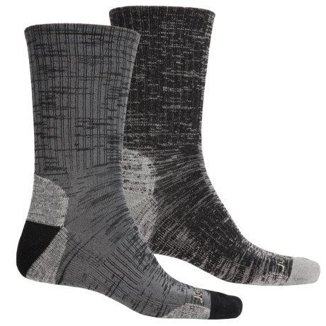 Terramar Merino Lite Hiker Socks - 2-Pack, Crew (For Men and Women) in Black/Charcoal