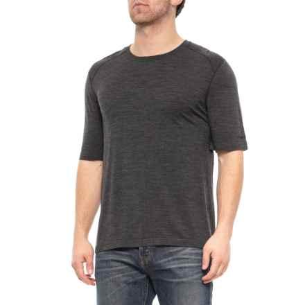 Terramar Merino Woolskins Tech T-Shirt - Short Sleeve (For Men) in Charcoal Grey - Closeouts