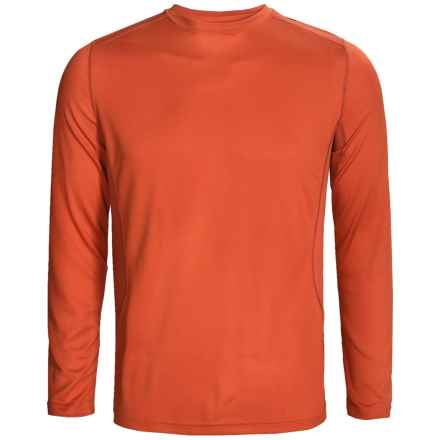 Terramar MicroCool® Base Layer Top - UPF 50+, Long Sleeve (For Men) in Brick - Closeouts