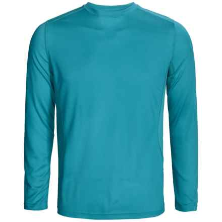 Terramar MicroCool® Base Layer Top - UPF 50+, Long Sleeve (For Men) in Lagoon - Closeouts