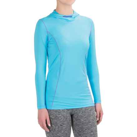 Terramar MicroCool® Hooded Shirt - Long Sleeve (For Women) in Bluebird - Closeouts