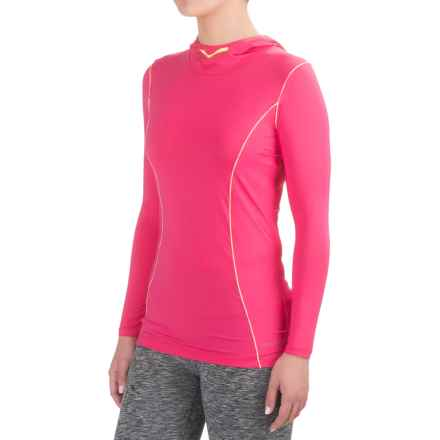 Terramar MicroCool® Hooded Shirt - Long Sleeve (For Women) in Geranium - Closeouts