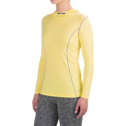 Terramar MicroCool® Hooded Shirt - Long Sleeve (For Women) in Limelight - Closeouts