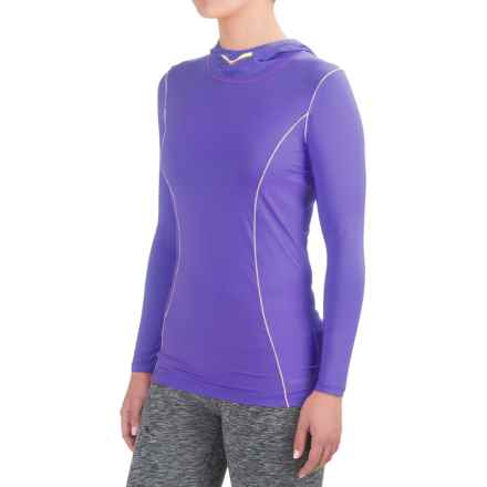 Terramar MicroCool® Hooded Shirt - Long Sleeve (For Women) in Periwinkle - Closeouts