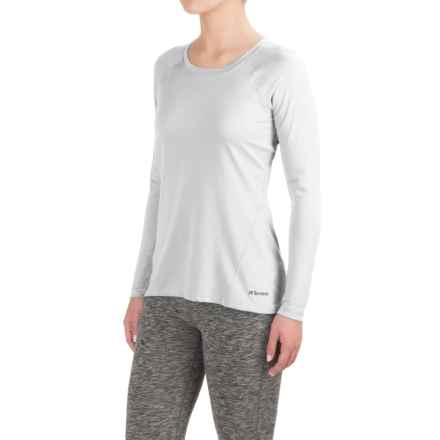 Terramar MicroCool® Shirt - UPF 50+, Long Sleeve (For Women) in White - Closeouts