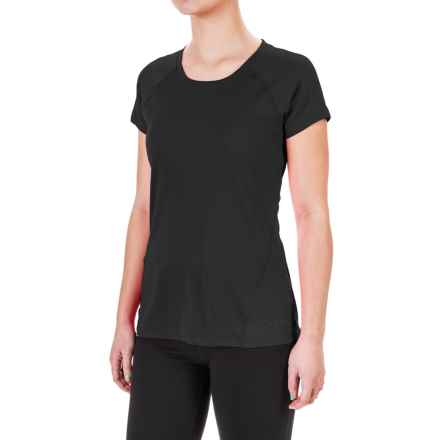 Terramar MicroCool® T-Shirt - UPF 50+, Scoop Neck, Short Sleeve (For Women) in Black - Closeouts
