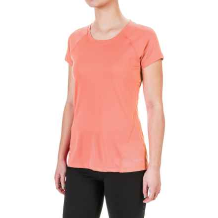 Terramar MicroCool® T-Shirt - UPF 50+, Scoop Neck, Short Sleeve (For Women) in Coral - Closeouts