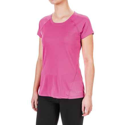 Terramar MicroCool® T-Shirt - UPF 50+, Scoop Neck, Short Sleeve (For Women) in Geranium - Closeouts
