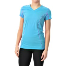Terramar Microcool V-Neck Shirt - UPF 50+, Short Sleeve (For Women) in Bluebird - Closeouts