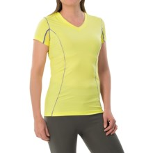 Terramar Microcool V-Neck Shirt - UPF 50+, Short Sleeve (For Women) in Limelight - Closeouts