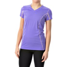 Terramar Microcool V-Neck Shirt - UPF 50+, Short Sleeve (For Women) in Periwinkle - Closeouts