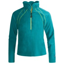 Terramar Microfleece Thermolator Base Layer Top - Heavyweight, Zip Neck, Long Sleeve (For Girls) in Persian Blue - Closeouts