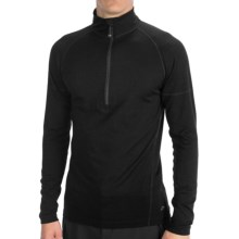 Terramar Midweight Base Layer Top - Merino Wool, Zip Neck, Long Sleeve (For Men) in Black - Closeouts