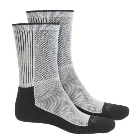 Terramar Midweight Cool-Dri Pro Hiker Socks - 2-Pack, Crew (For Men and Women) in Black - Overstock