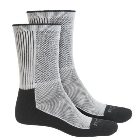 Terramar Midweight Cool-Dri Pro Hiker Socks - 2-Pack, Crew (For Men and Women) in Black