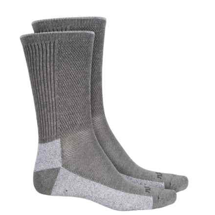 Terramar Midweight Cool-Dri Pro Hiker Socks - 2-Pack, Crew (For Men and Women) in Light Grey - Overstock