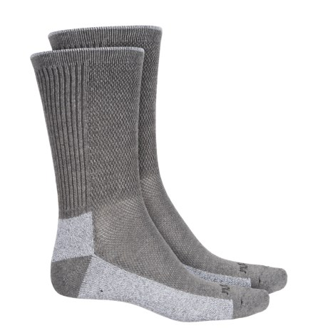 Terramar Midweight Cool-Dri Pro Hiker Socks - 2-Pack, Crew (For Men and Women) in Light Grey