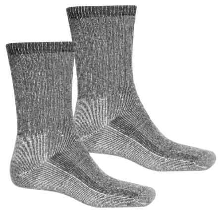 Terramar Midweight Hiker Socks - 2-Pack, Merino Wool, Crew (For Men and Women) in Grey - Overstock