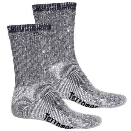 Terramar Midweight Hiker Socks - 2-Pack, Merino Wool, Crew (For Men and Women) in Navy - Overstock