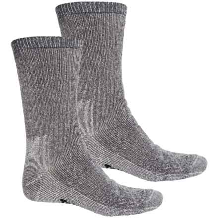 Terramar Midweight Hiking Socks - Merino Wool, Crew, 2-Pack (For Men) in Grey - Closeouts