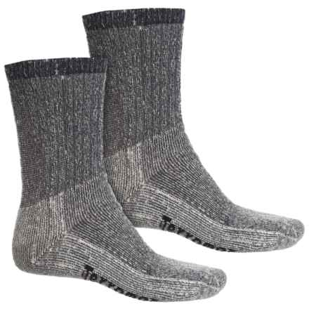 Terramar Midweight Hiking Socks - Merino Wool, Crew, 2-Pack (For Men) in Navy - Closeouts