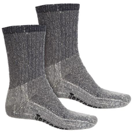 Terramar Midweight Hiking Socks - Merino Wool, Crew, 2-Pack (For Men) in Navy