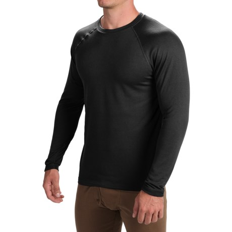 Terramar Military 3.0 Fleece Base Layer Top - Long Sleeve (For Men) in Black