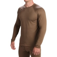 Terramar Military 3.0 Fleece Base Layer Top - Long Sleeve (For Men) in Brown - Closeouts