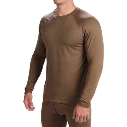 Terramar Military 3.0 Fleece Base Layer Top - Long Sleeve (For Men) in Military Brown - Closeouts