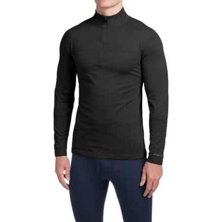 Terramar Military Fleece Base Layer Top - Zip Neck, Long Sleeve (For Men) in Black - Closeouts