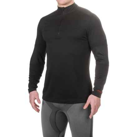 Terramar Military Fleece Base Layer Top - Zip Neck, Long Sleeve (For Men) in Black - Closeouts