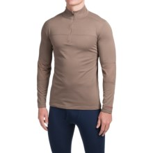 Terramar Military Fleece Base Layer Top - Zip Neck, Long Sleeve (For Men) in Military Brown - Closeouts