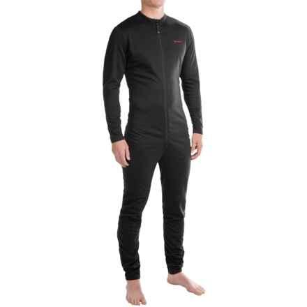 Terramar Military Fleece Union Suit (For Men) in Black - Closeouts