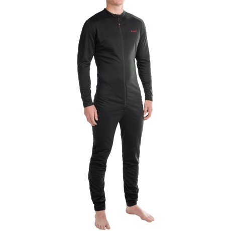 Terramar Military Fleece Union Suit (For Men) in Black