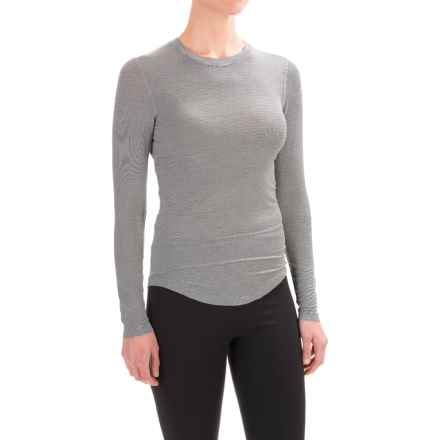 Terramar Natara Base Layer Top - UPF 25+, Long Sleeve (For Women) in Black Stripe - Closeouts
