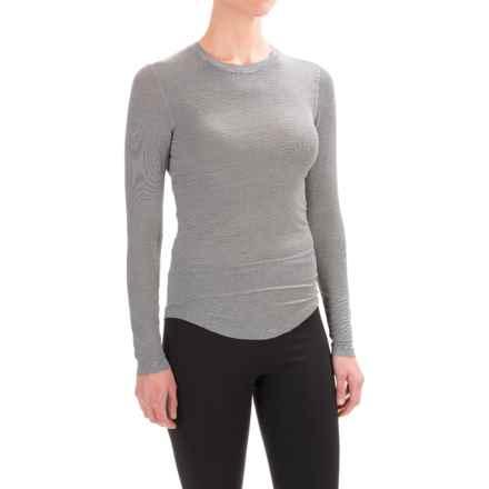 Terramar Natara Base Layer Top - UPF 25+, Long Sleeve (For Women) in Black Stripe - Closeouts