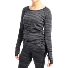 Terramar Pebble Melange CS Base Layer Top - UPF 50+, Reversible (For Women) in Black Melange - Closeouts