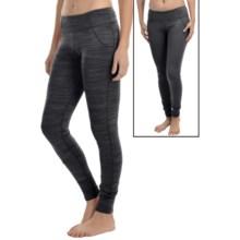 Terramar Pebble Melange Reversible Tights - UPF 50+ (For Women) in Black Melange - Closeouts
