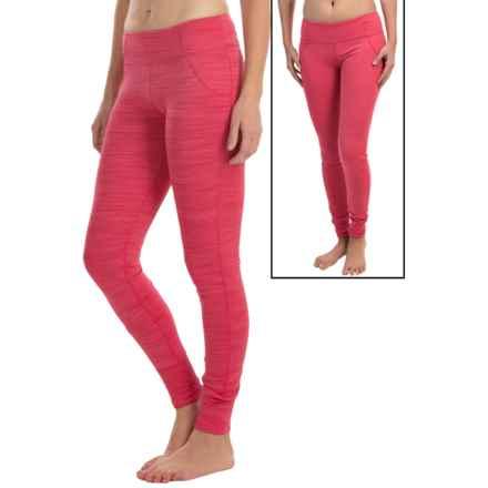 Terramar Pebble Melange Reversible Tights - UPF 50+ (For Women) in Poppy Melange - Closeouts