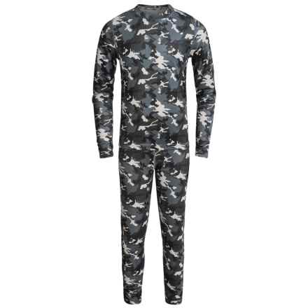 Terramar Power Play 1.0 Base Layer Set - UPF 25+ (For Little and Big Kids) in Black Camo Print - Closeouts